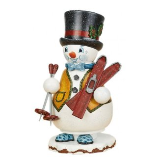 Hubrig smoker miniature snowman ski teacher