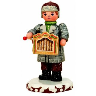 Hubrig winter kids hurdy-gurdy player