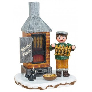 Hubrig winter houses fish incense - electric illuminated