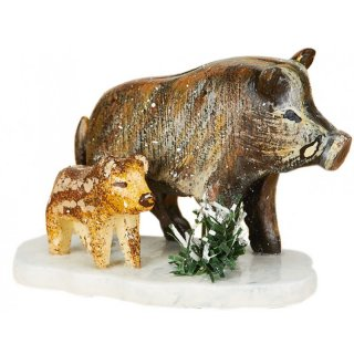 Hubrig winter kids wild boar