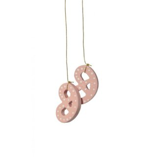 KWO tree decoration pretzel pink