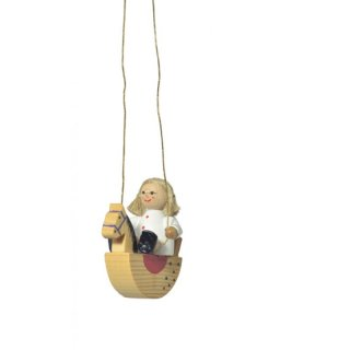 KWO tree decoration doll on rocking horse