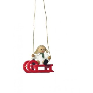 KWO tree decoration doll on sled