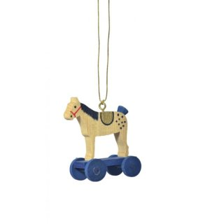 KWO tree decoration equestrian blue
