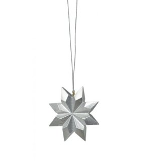 KWO tree decoration star silver