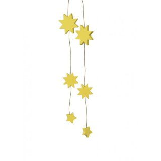 KWO tree decoration stars yellow