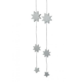 KWO tree decoration stars silver
