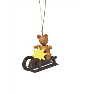 KWO tree decoration teddy on sled