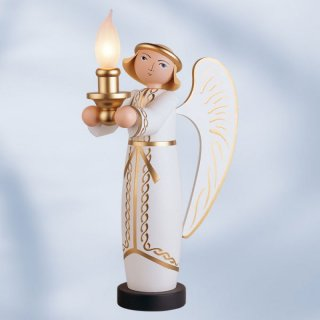 KWO angel with electric lighting
