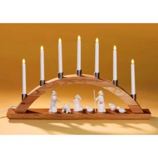 KWO figures for candle arch - shepherd with sheeps 4 parts