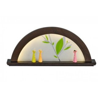 KWO candle arch oak - moor oak with glass green foliage