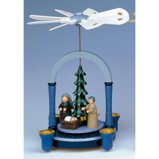 KWO pyramid blue-grey Christi nativity