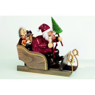 KWO Smoker Santa Claus with carriage big
