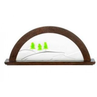 KWO candle arch oak moor oak with glass green fir