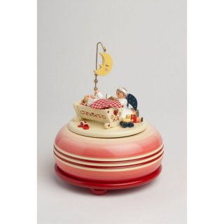 KWO music box Good Night small red