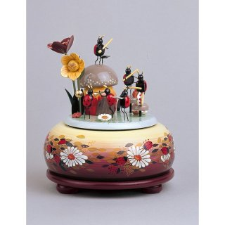 KWO music box little musical beetle small