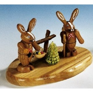 Knuth Neuber rabbit couple on base small nature