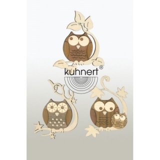 Kuhnert tree decoration owl 6 parts