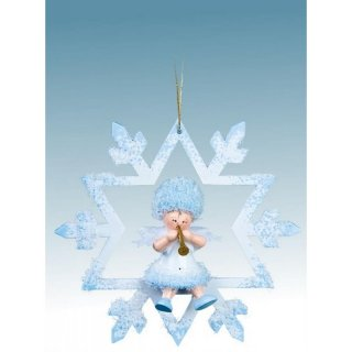 Kuhnert tree decoration snowflake with trumpet