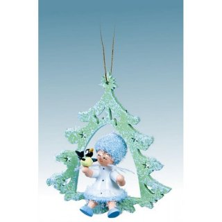 Kuhnert tree decoration snowflake with bird