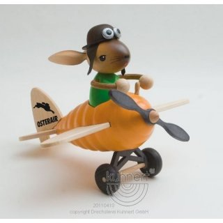 Kuhnert rabbit in a carrot plane