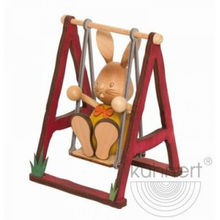 Kuhnert easter bunny Stupsi on the swing
