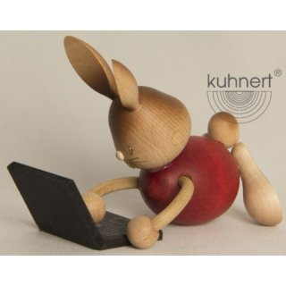 Kuhnert easter bunny Stupsi with laptop