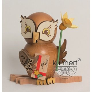 Kuhnert incense figure owl well-wisher