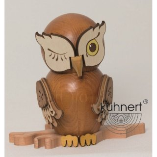 Kuhnert incense figure owl stained