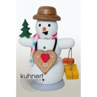 Kuhnert Smoker snowman with gingerbread heart