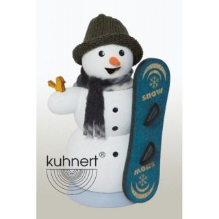 Kuhnert Smoker snowman with snowboard