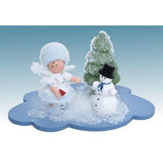 Kuhnert snowflake with snowman on the cloud