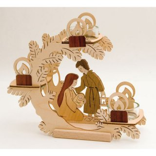 Kuhnert candle wreath crib