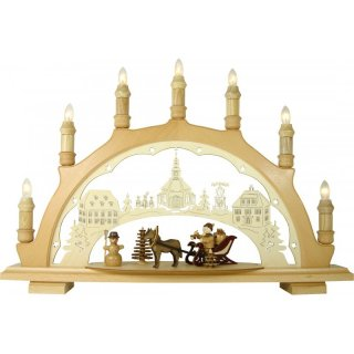 Lenk and son candle arch Santa Claus with carriage