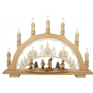 Lenk and son candle arch winter children