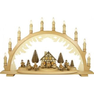 Lenk and son candle arch with turned lantern children
