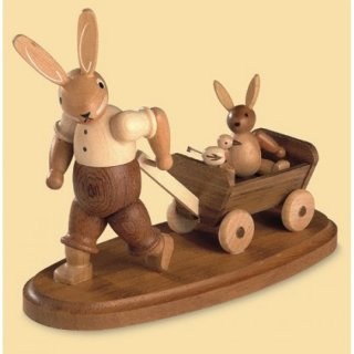 Müller rabbit father with kid on the carts small