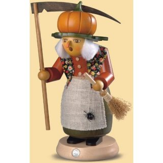 Müller Smoke woman halloween witch with pumpkin tall