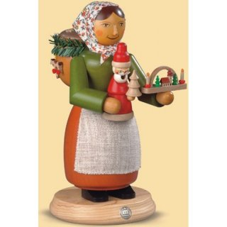 Müller Smoke woman wooden toys seller tall
