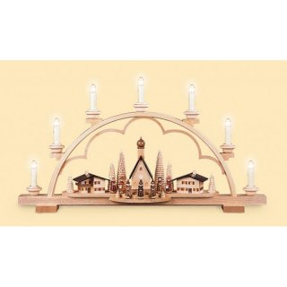 Müller candle arch alps village