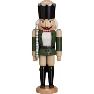 Seiffener Volkskunst eG nutcracker king green glazed