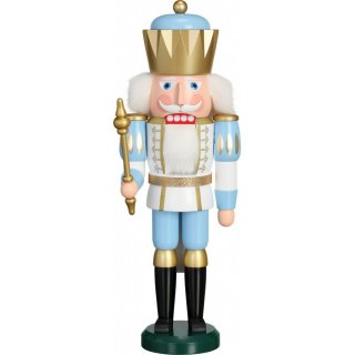 Seiffener Volkskunst eG nutcracker king white/blue
