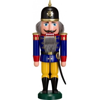 Volkskunst eG from Seiffen nutcracker soldier blue