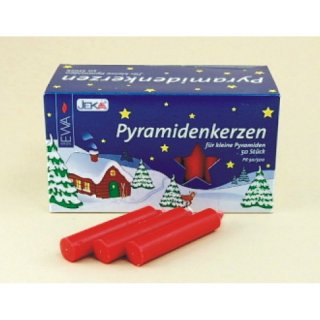 Pyramid candles red - diameter 14 mm (0,55 inch)
