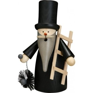 Smoker chimney sweeper of Seiffen folk art eG