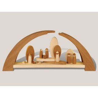 Rauta modern candle arch with manger figures