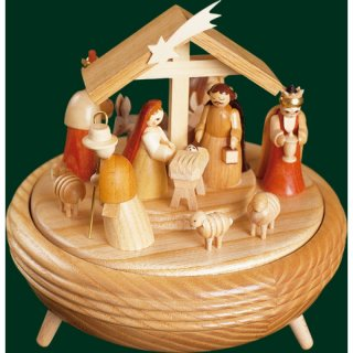 Richard Glässer music box christi nativity