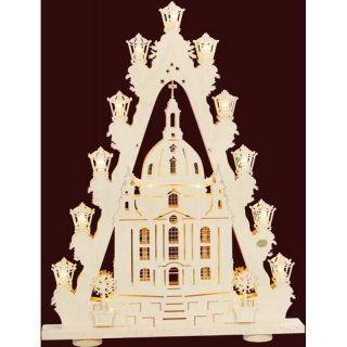 Saico 3D candle arch triangle woman church of Dresden
