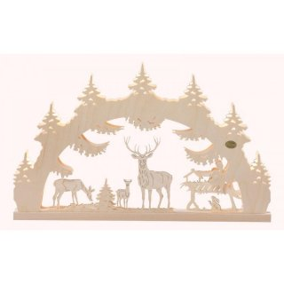 Saico 3D candle arch forest clearing