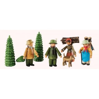 Saico figure set forest set of eight, colored